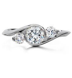 Platinum Three Stone Ring by Diana_Vincent, via Flickr