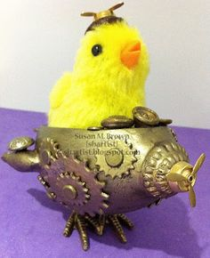 Steampunk Eggship molded and casted using Amazing Mold Putty and Amazing Casting Resin by Susan M. Brown