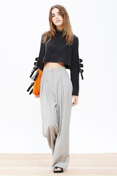 Grey Wide Legged Trousers