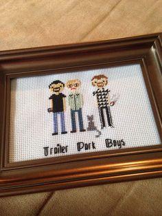Trailer Park Boys Portrait Cross Stitch by ParchmentPetalDesign