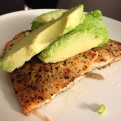 Avocado Salmon Dinner - bake in the oven with foil for 20-25 minutes.
