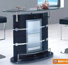Contemporary Bar Table in Two Tone