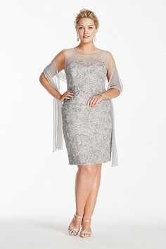 Beaded Illusion Short Soutache Dress 3219DW  129