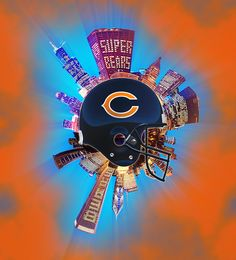 Not a Bears fan, but this experiment in making radial skylines just evolved this way.