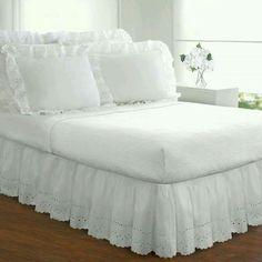 Saia para cama box.Várias idéias para deixar seu quarto um charme e aconchegante! - Coisas de Vó