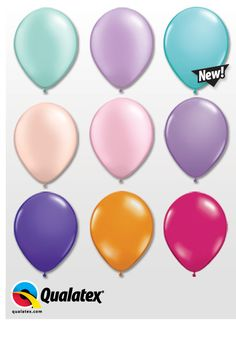 A few Qualatex latex balloon colors based on #wedding #color #trends for 2013: Pearl Mint Green, Pearl Lavender, Caribbean Blue, Pearl Peach, Pearl Pink, Spring Lilac, Purple Violet, Mandarin Orange, & Wild Berry.