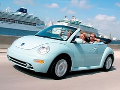 Light Blue Convertible Beetle!