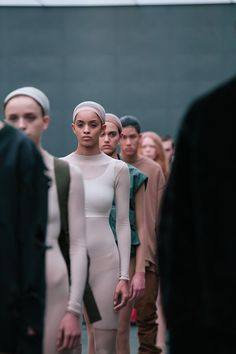 Nude body suits and crops at Kanye West x adidas AW15 NYFW. See more here: http://www.dazeddigital.com/fashion/article/23612/1/kanye-drops-a-new-track-with-sia-listen-here
