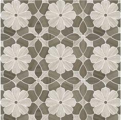 Silver Oak & Athens Grey Marble Waterjet Mosaic Tile in Flower Blooms Marble Mosaic, Mosaic Tiles, Marble Slabs, Mosaic Backsplash, Carrara Marble, Mocha Color, Luxury Flowers, Ceramic Floor Tiles, Saunas