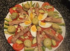 Salad Recipes, Healthy Recipes, Canapes, Asparagus, Potato Salad, Food To Make, Easy Meals, Yummy Food, Fish
