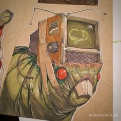 It wasn't until they finally cleaned out the old lab when they realized how bad things had really gotten. Paper Wall Art, Toned Paper, Monster Design, Pop Surrealism, Street Art Graffiti, Copics, Box Art, Drawing Reference, Amazing Art