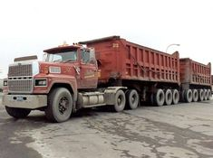 Big Rig Trucks, Rv Truck, Dump Trucks, Old Trucks, Sterling Trucks, Dump Trailers, Heavy Construction Equipment, Ford Torino, Road Train