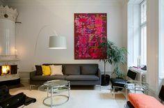 Lägenhet i Stockholm - Skeppsholmen Sotheby's International Realty Old Fireplace, Stockholm, Modern Furniture, Old Things, Living Room, Artwork, Vintage, Work Of Art, Auguste Rodin Artwork