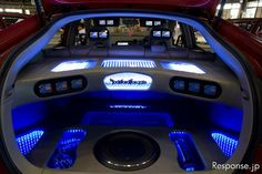 """Ecity demoted venue Messe Nagoya No.1 incorporates the LED (light emitting diode) Was produced in Kita-ku, Nagoya-City, has been involved in car audio installation """"car audio Centre Victory""""."""