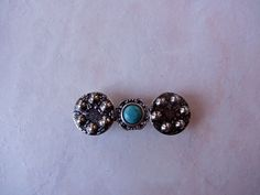 New listing added Handmade Barrette Repurposed Blue and Silver Recycled Upcycled by HandmadeBarrettes