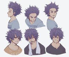 pose hair male
