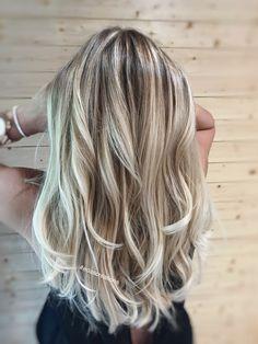 Balayage long hair blonde