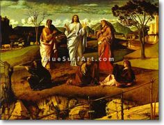 Transfiguration of Christ - Giovanni Bellini Completion Date: Style: Early Renaissance Genre: religious painting Technique: oil Material: wood Dimensions: 115 x 152 cm Gallery: Museo Nazionale di Capodimonte, Naples, Italy Michelangelo, Venetian Painters, Andrea Mantegna, Giovanni Bellini, The Transfiguration, Hokusai, Bellinis, High Renaissance, Renaissance Paintings