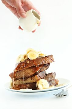 MEGA FLAVORFUL Vegan Banana French Toast! 5 ingredients, one bowl and SO delicious! #vegan