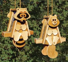 ALL - Cedar Raccoon & Squirrel Bird Feeder Woodcraft Patterns