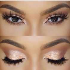 This simple yet glamours eye! I feel like I could create it with my melon pigment and doll me up lashes