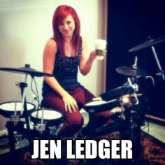 Jen ledgers favorite coffee a caramel cappucinno with extra whip cream and extra espresso Christian Rock Bands, Christian Music, Gi Joe, Drums Girl, Skillet Band, Jen Ledger, Chris Tomlin, Geek Games, Gospel Music
