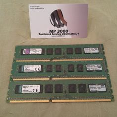 Ram 8 Go DDR3 Kingston Technology 69.00$ Kingston Technology, Budgeting, Budget Organization