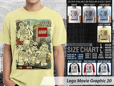 Kaos Film Lego Movie 3D, Kaos Lego Bricksburg, Kaos The Lego Movie Think Tank, Kaos Lego Movie Lord Business, Kaos Film Lego Bad Cops
