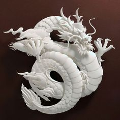 """Jeff Nishinaka's paper dragons. I often feel that Chinese """"dragons"""" are… Papercut Art, Muse Kunst, Imperial Dragon, Inspiration Artistique, Dragons, 3d Modelle, Year Of The Dragon, Muse Art, Paper Artist"""