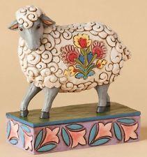 Jim Shore Gentle As A Lamb Folk Art Decorated Sheep Figurine 4039494 Heartwood