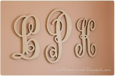 Wall monogram letters