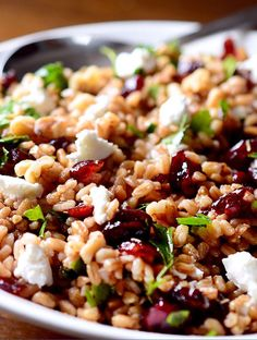 Farro, Cranberry and