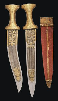 TWO GOLD-DAMASCENED DAGGERS INDIA, 19TH CENTURY OR LATER | Christie's