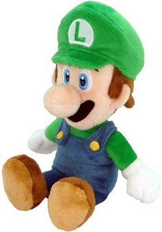 Super Mario Plush - 8 Luigi Soft Stuffed Plush Toy Japanese Import