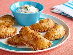 Cheesy Chicken Empanadas recipe from Patrick and Gina Neely via Food Network