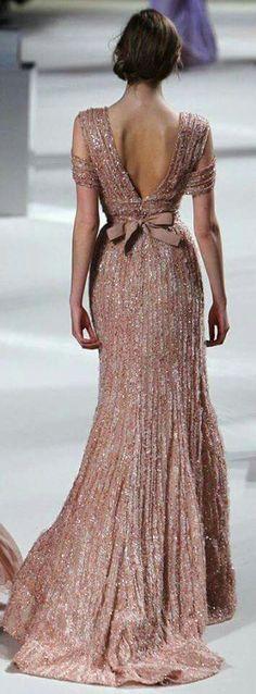 Rose champagne dress
