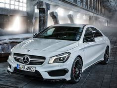 This is the 2014 Mercedes CLA45 AMG it cost around $35,000. I like these type of cars because they look elegant.