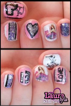 Oh My Gosh! Taylor Swift Nails! :) Lauralyla Nail Art http://www.youtube.com/user/lauralyla?feature=mhee