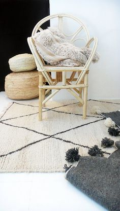 pinned by barefootstyling.com BENI OUARAIN RUG  Vintage Moroccan Wool Rug  Big por lacasadecoto