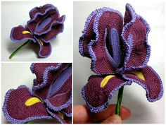 Crochet Iris - Tutorial