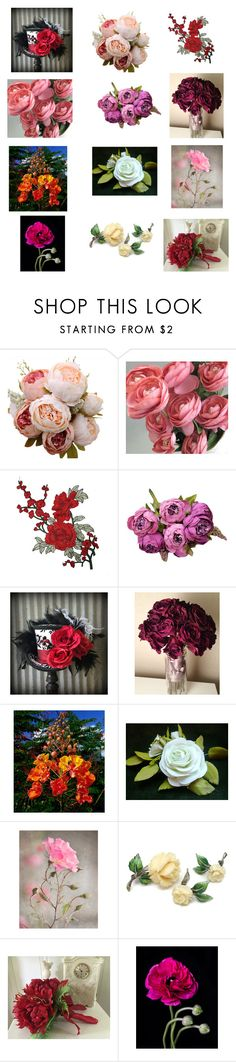 """""""flowers"""" by anastasiatsouk ❤ liked on Polyvore"""