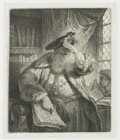 Oude man zijn ogen beschaduwend met zijn hand, Rembrandt Harmensz. van Rijn, 1770