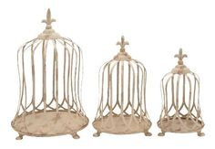 Deco 79 52940 3Piece Metal Decorative Planter Set * Learn more by visiting the image link.