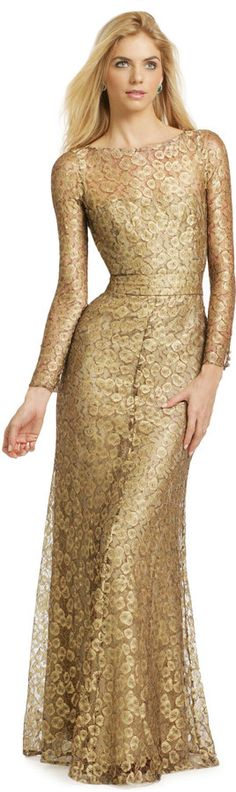 Issa Gold Cassia Gown