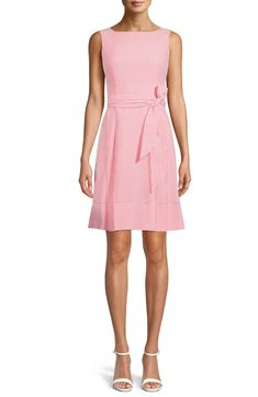 Free shipping and returns on Anne Klein Belted Stripe Seersucker Dress at Nordstrom.com. A summery classic, cool and crisp seersucker comes to the office via this classically polished dress wrapped with a waist-defining sash. Seersucker Dress, Nordstrom Dresses, Anne Klein, Sash, Spring Fashion, Crisp, Wrap Dress, Belt, Summer Dresses