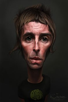 Caricatura de Liam Gallagher de Oasis.