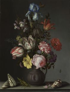Still life painting by by Balthasar van der Ast, about 1630.. Your image is printed at high quality onto superior fine textured artist's canvas using the very latest coating technology.