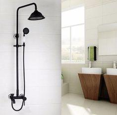 Antique Oil Rubber Bronze Shower Faucet