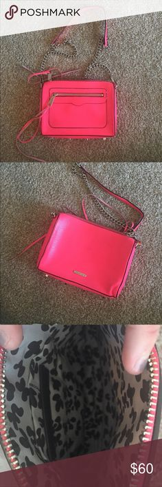 REBECCA MINKOFF HOT PINK BAG MAJOR CLEAN OUT!!!!! Hot pink color with minor scuff marks. no trades just looking to sell Rebecca Minkoff Bags Crossbody Bags