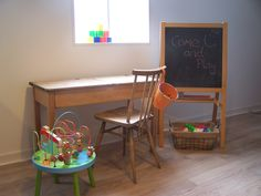 somewhere for the kids to play. At B Juicy juice bar. Truro cornwall